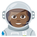 Man Astronaut: Medium-Dark Skin Tone on EmojiOne 3.1