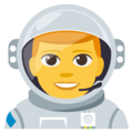 Man Astronaut on EmojiOne 3.1