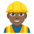 Man Construction Worker: Medium-Dark Skin Tone on EmojiOne 3.1