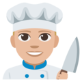 Man Cook: Medium-Light Skin Tone on EmojiOne 3.1