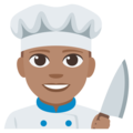 Man Cook: Medium Skin Tone on EmojiOne 3.1