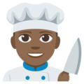 Man Cook: Medium-Dark Skin Tone on EmojiOne 3.1