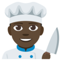 Man Cook: Dark Skin Tone on EmojiOne 3.1