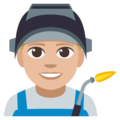 Man Factory Worker: Medium-Light Skin Tone on EmojiOne 3.1