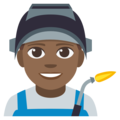 Man Factory Worker: Medium-Dark Skin Tone on EmojiOne 3.1