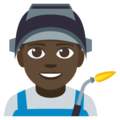 Man Factory Worker: Dark Skin Tone on EmojiOne 3.1