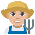 Man Farmer: Medium-Light Skin Tone on EmojiOne 3.1
