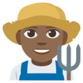 Man Farmer: Medium-Dark Skin Tone on EmojiOne 3.1