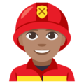 Man Firefighter: Medium Skin Tone on EmojiOne 3.1