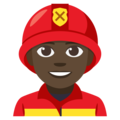 Man Firefighter: Dark Skin Tone on EmojiOne 3.1