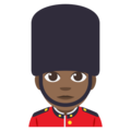 Man Guard: Medium-Dark Skin Tone on EmojiOne 3.1