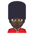 Man Guard: Dark Skin Tone on EmojiOne 3.1