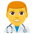 Man Health Worker on EmojiOne 3.1