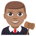 Man Judge: Medium Skin Tone on EmojiOne 3.1