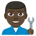 Man Mechanic: Dark Skin Tone on EmojiOne 3.1