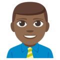 Man Office Worker: Medium-Dark Skin Tone on EmojiOne 3.1