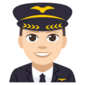 Man Pilot: Light Skin Tone on EmojiOne 3.1