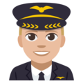 Man Pilot: Medium-Light Skin Tone on EmojiOne 3.1