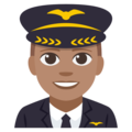 Man Pilot: Medium Skin Tone on EmojiOne 3.1