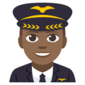 Man Pilot: Medium-Dark Skin Tone on EmojiOne 3.1