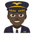 Man Pilot: Dark Skin Tone on EmojiOne 3.1