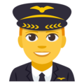 Man Pilot on EmojiOne 3.1
