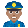 Man Police Officer: Medium Skin Tone on EmojiOne 3.1