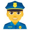 Man Police Officer on EmojiOne 3.1