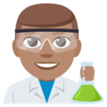 Man Scientist: Medium Skin Tone on EmojiOne 3.1