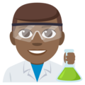 Man Scientist: Medium-Dark Skin Tone on EmojiOne 3.1