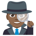 Man Detective: Medium-Dark Skin Tone on EmojiOne 3.1