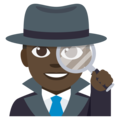 Man Detective: Dark Skin Tone on EmojiOne 3.1