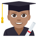Man Student: Medium Skin Tone on EmojiOne 3.1