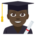 Man Student: Dark Skin Tone on EmojiOne 3.1