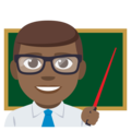 Man Teacher: Medium-Dark Skin Tone on EmojiOne 3.1