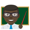 Man Teacher: Dark Skin Tone on EmojiOne 3.1