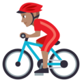 Man Biking: Medium Skin Tone on EmojiOne 3.1