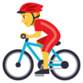 Man Biking on EmojiOne 3.1
