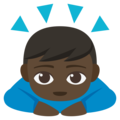 Man Bowing: Dark Skin Tone on EmojiOne 3.1