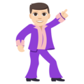 Man Dancing: Light Skin Tone on EmojiOne 3.1