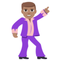 Man Dancing: Medium Skin Tone on EmojiOne 3.1