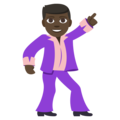 Man Dancing: Dark Skin Tone on EmojiOne 3.1