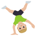 Man Cartwheeling: Medium-Light Skin Tone on EmojiOne 3.1