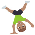 Man Cartwheeling: Medium Skin Tone on EmojiOne 3.1