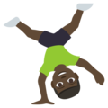 Man Cartwheeling: Dark Skin Tone on EmojiOne 3.1