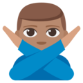 Man Gesturing No: Medium Skin Tone on EmojiOne 3.1