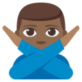 Man Gesturing No: Medium-Dark Skin Tone on EmojiOne 3.1
