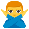 Man Gesturing No on EmojiOne 3.1