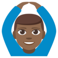 Man Gesturing OK: Medium-Dark Skin Tone on EmojiOne 3.1