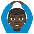 Man Gesturing OK: Dark Skin Tone on EmojiOne 3.1